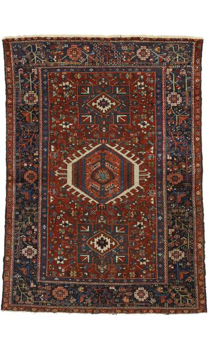 4 x 6 Antique Heriz Rug 77063