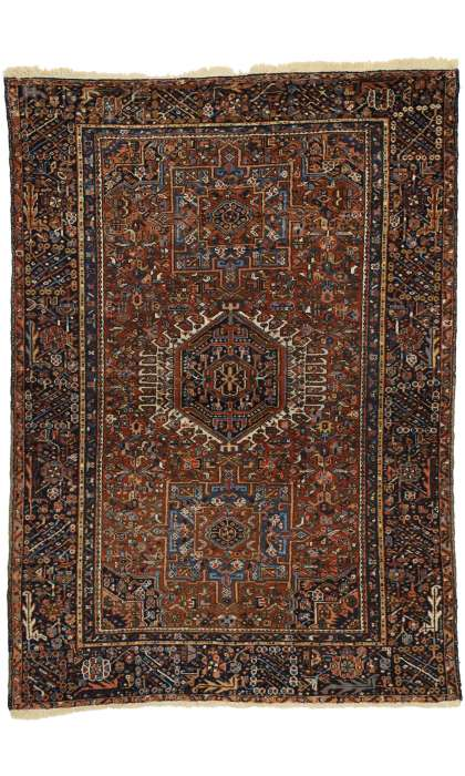 5 x 7 Antique Heriz Rug 77064