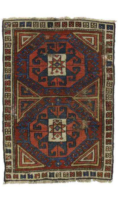 2 x 2 Antique Kazak Rug 77270