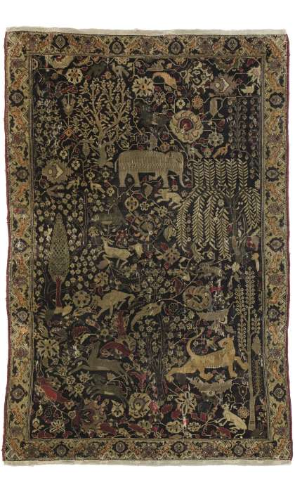 4 x 6 Antique Agra Rug 77271