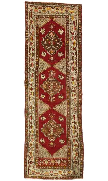 4 x 10 Antique Oushak Rug 77284
