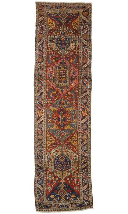 3 x 11 Antique Heriz Rug 77303