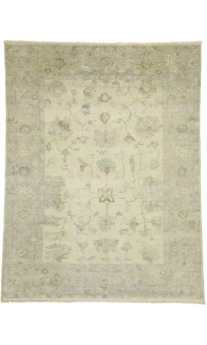 9 x 12 Transitional Classic Oushak Rug 30031