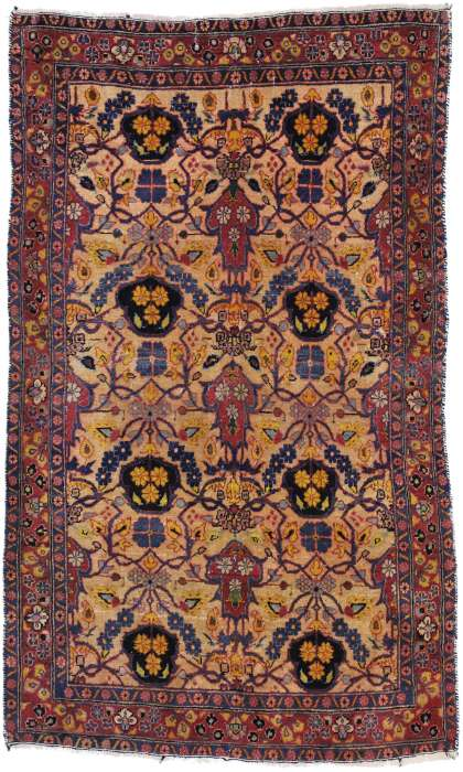 3 x 6 Persian Kashan Rug 60716