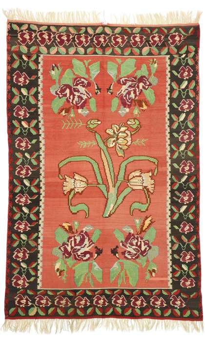 7 x 10 Vintage Kilim Rug 70525
