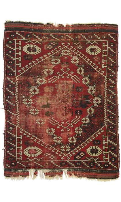 3 x 4 Antique Afghan Rug 76628