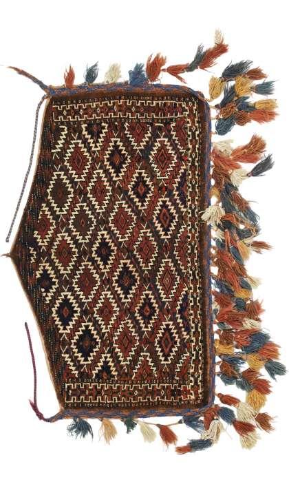 2 x 4 Vintage Afghan Rug 76630