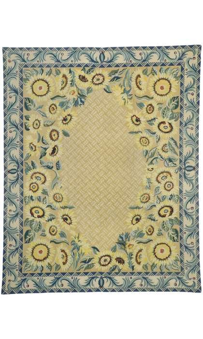 8 x 10 Vintage Needlepoint Rug 76660