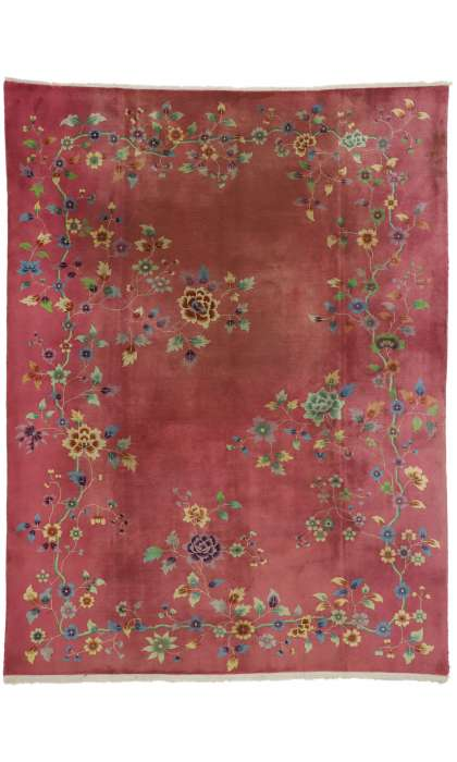 9 x 11 Antique Art Deco Rug 76813