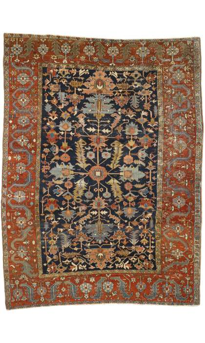 9 x 12 Antique Serapi Rug 77301