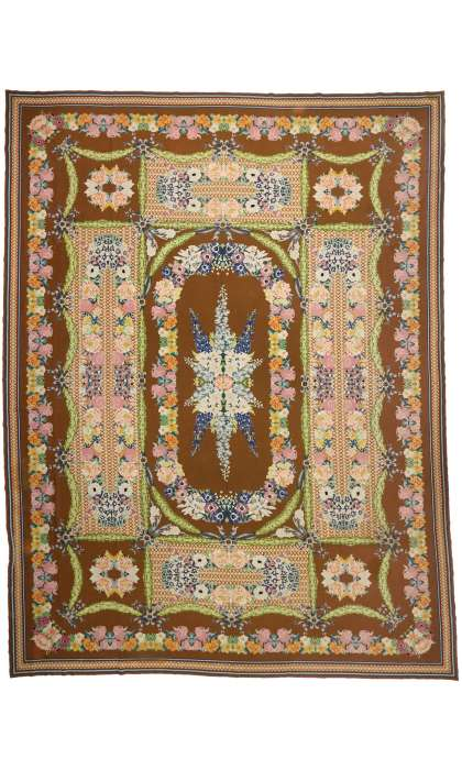 16 x 21 Antique Needlepoint Rug 77321
