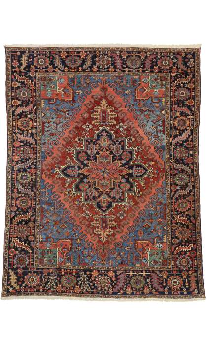 9 x 12 Antique Heriz Rug 77322