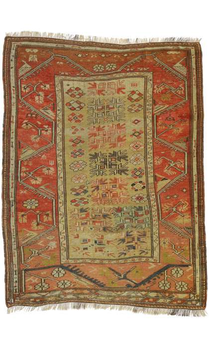 4 x 5 Antique Oushak Rug 77324