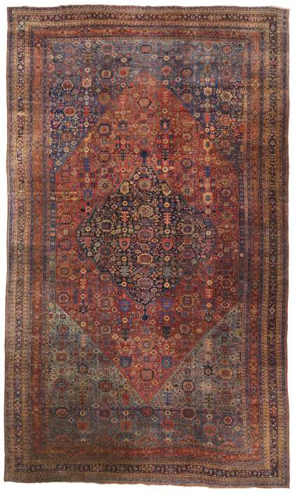 15 x 25 Antique Bijar Rug 77327