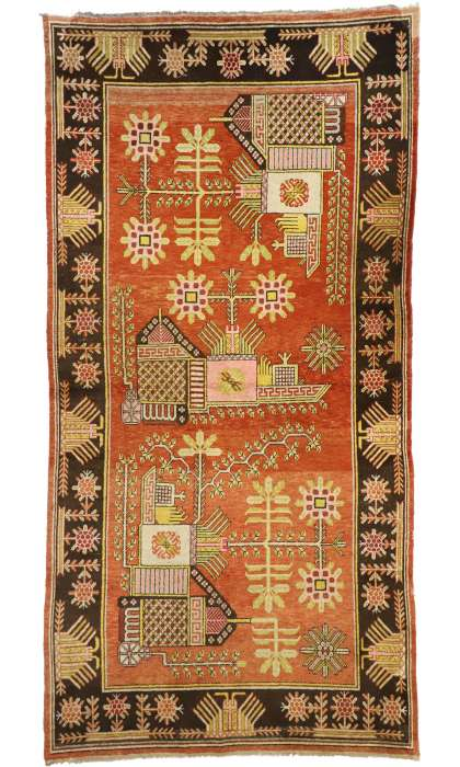 6 x 11 Antique Khotan Rug 77325