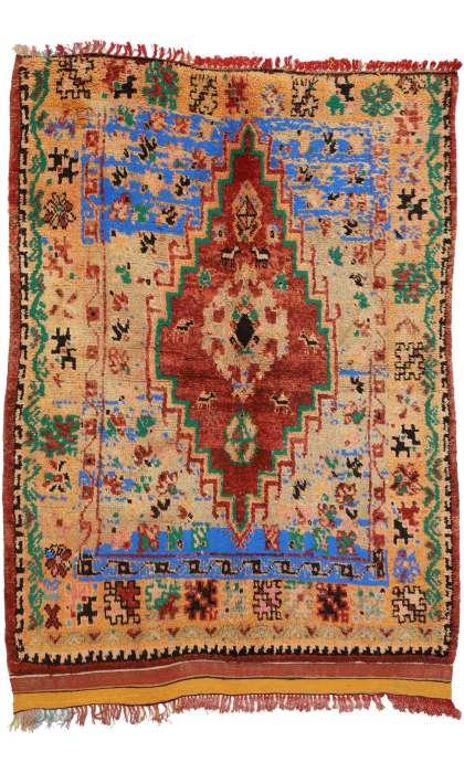 5 x 7 Vintage Moroccan Rug 20891
