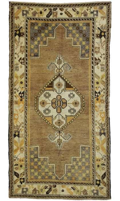 4 x 7 Vintage Oushak Rug 50105