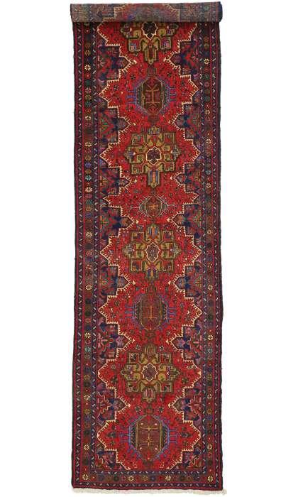4 x 13 Persian Vintage Heriz Rug 60243