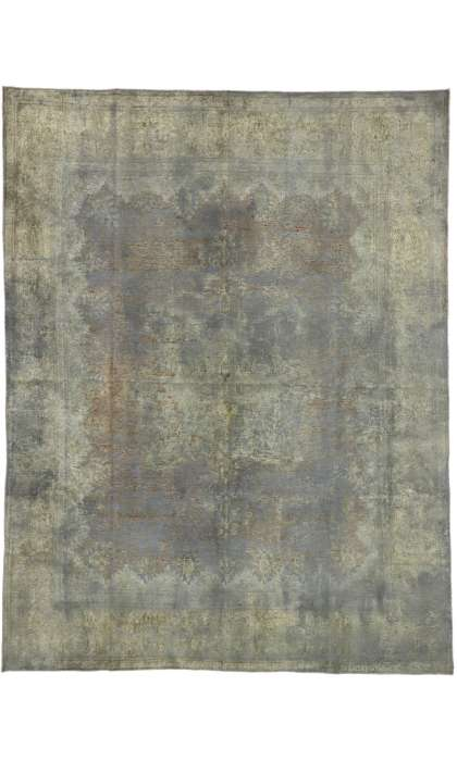 9 x 12 Vintage Overdyed Rug 60764