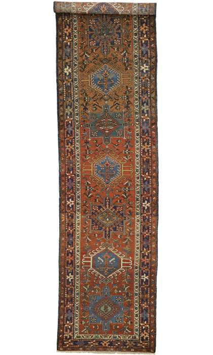 3 x 14 Antique Heriz Rug 73250