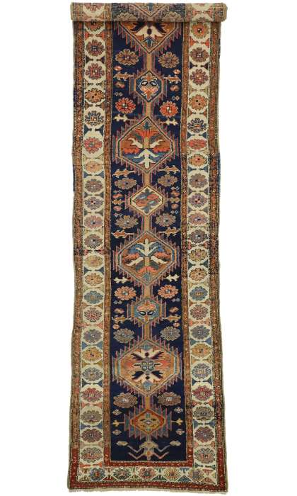 3 x 13 Antique Heriz Rug 73323