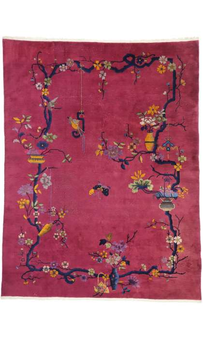 9 x 12 Antique Art Deco Rug 77363