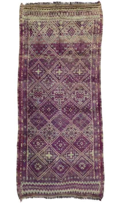 7 x 15 Vintage Moroccan Rug 20706