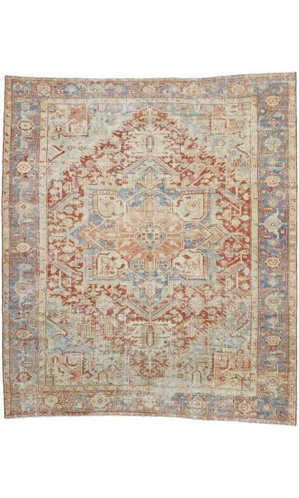 8 x 10 Antique Heriz Rug 52559