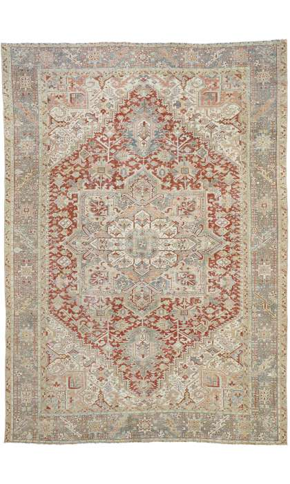 9 x 13 Antique Heriz Rug 52634