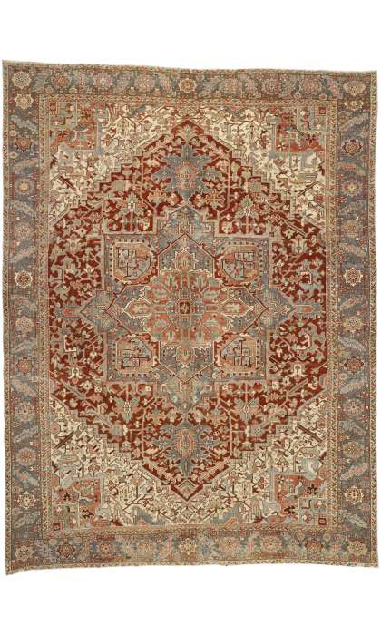 10 x 13 Antique Heriz Rug 52635
