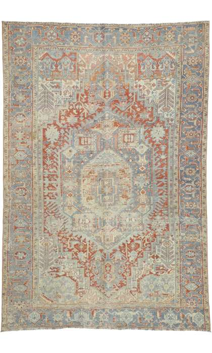 8 x 12 Antique Heriz Rug 52636