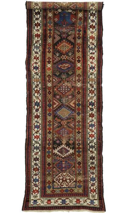 4 x 12 Antique Kazak Rug 77059