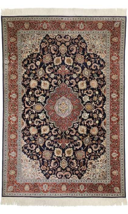 4 x 6 Vintage Silk Kashan Rug 77371