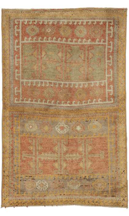 3 x 4 Antique Oushak Rug 52607