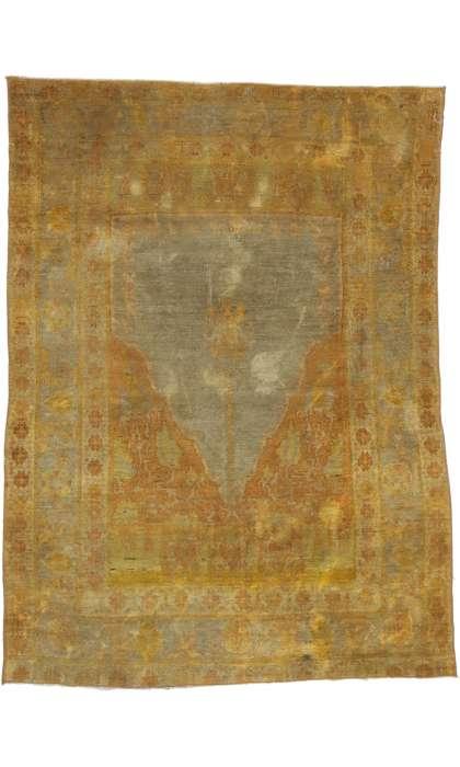 3 x 4 Antique Oushak Rug 52608