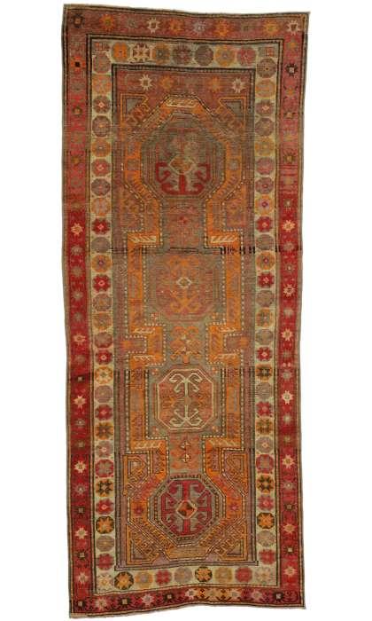 3 x 8 Vintage Oushak Rug 52614