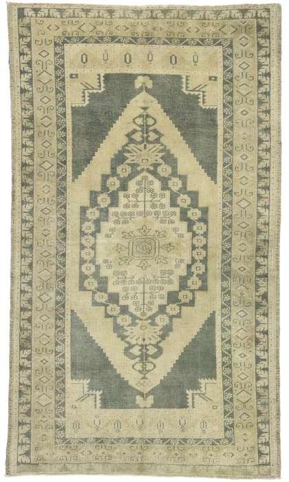 4 x 6 Vintage Oushak Rug 52672