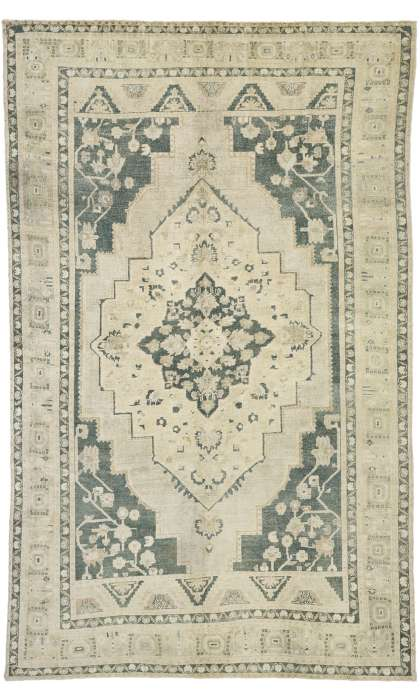 6 x 10 Vintage Oushak Rug 52673