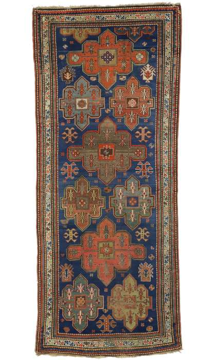 4 x 10 Antique Kazak Rug 77013