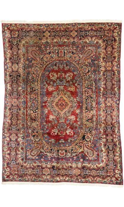 8 x 12 Antique Sarouk Rug 77386