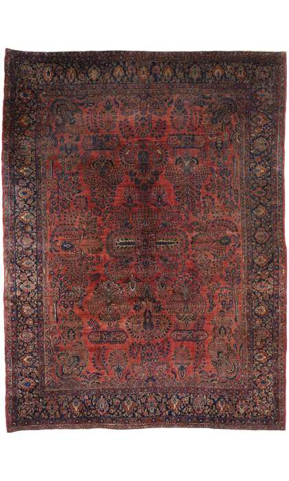 11 x 14 Antique Sarouk Rug 77387