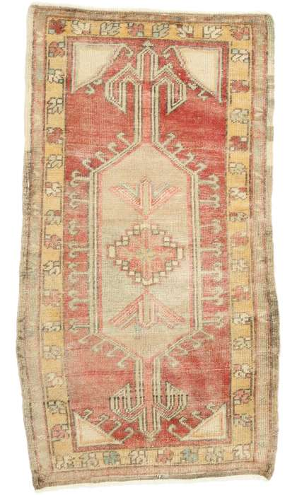 2 x 4 Vintage Oushak Rug 52698