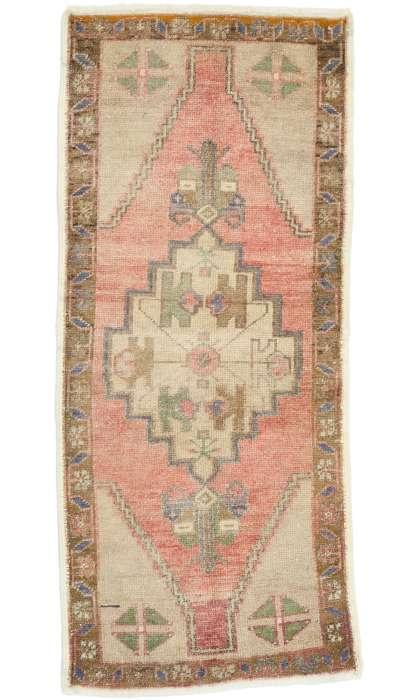 2 x 4 Vintage Oushak Rug 52699