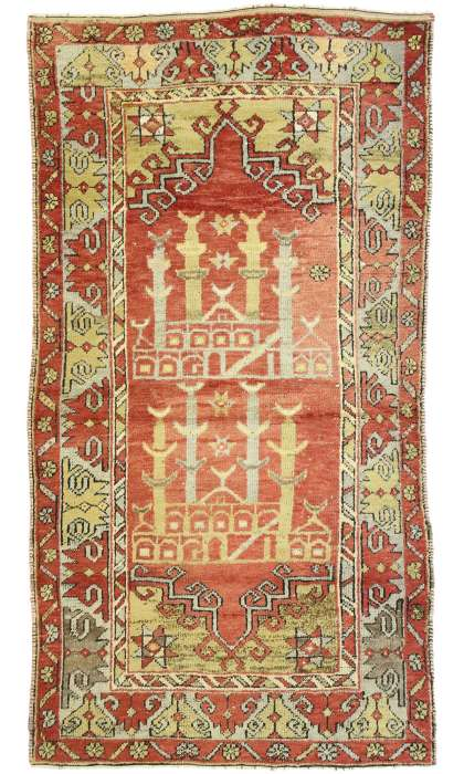 3 x 6 Vintage Oushak Rug 52700