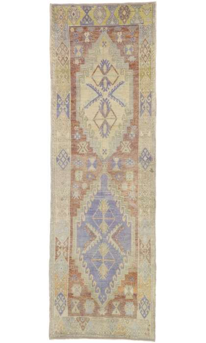 4 x 11 Vintage Oushak Rug 52740