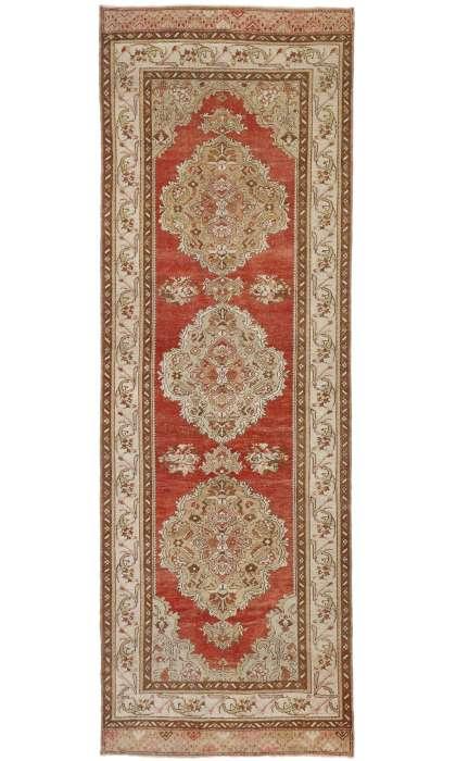 4 x 11 Vintage Oushak Rug 52743