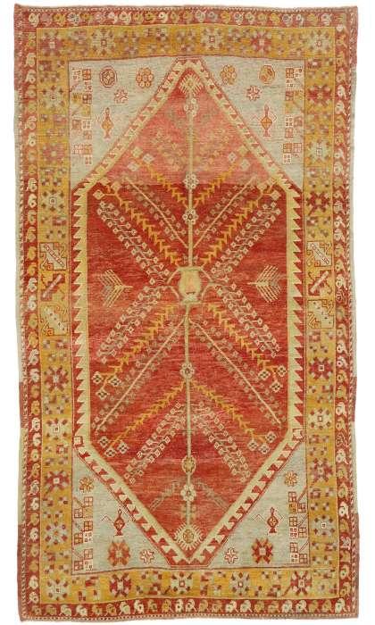 5 x 9 Vintage Oushak Rug 52752