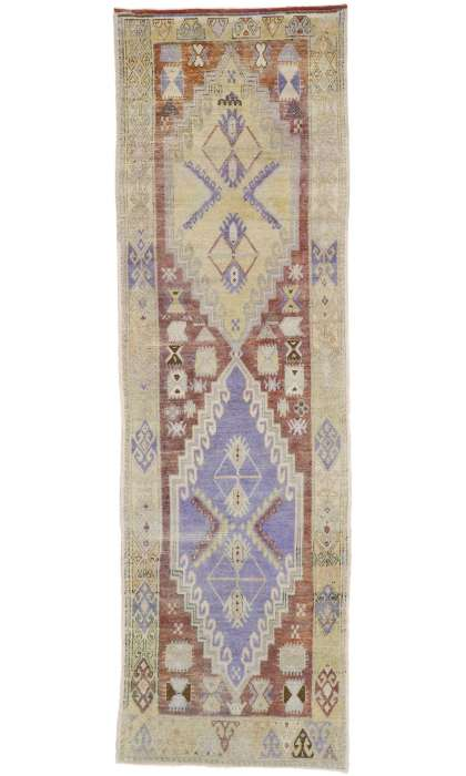 4 x 11 Vintage Oushak Rug 52757