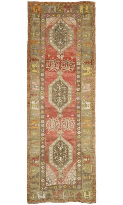 5 x 14 Vintage Oushak Rug 52760