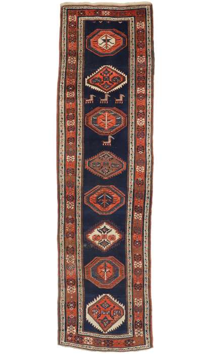 4 x 14 Antique Kazak Rug 77057